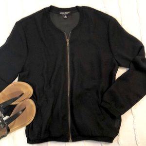 Sheer black bomber jacket  size M
